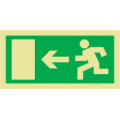 Menekülési és segélyt jelző táblák